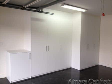 Garage Cabinets White Melamine Satin