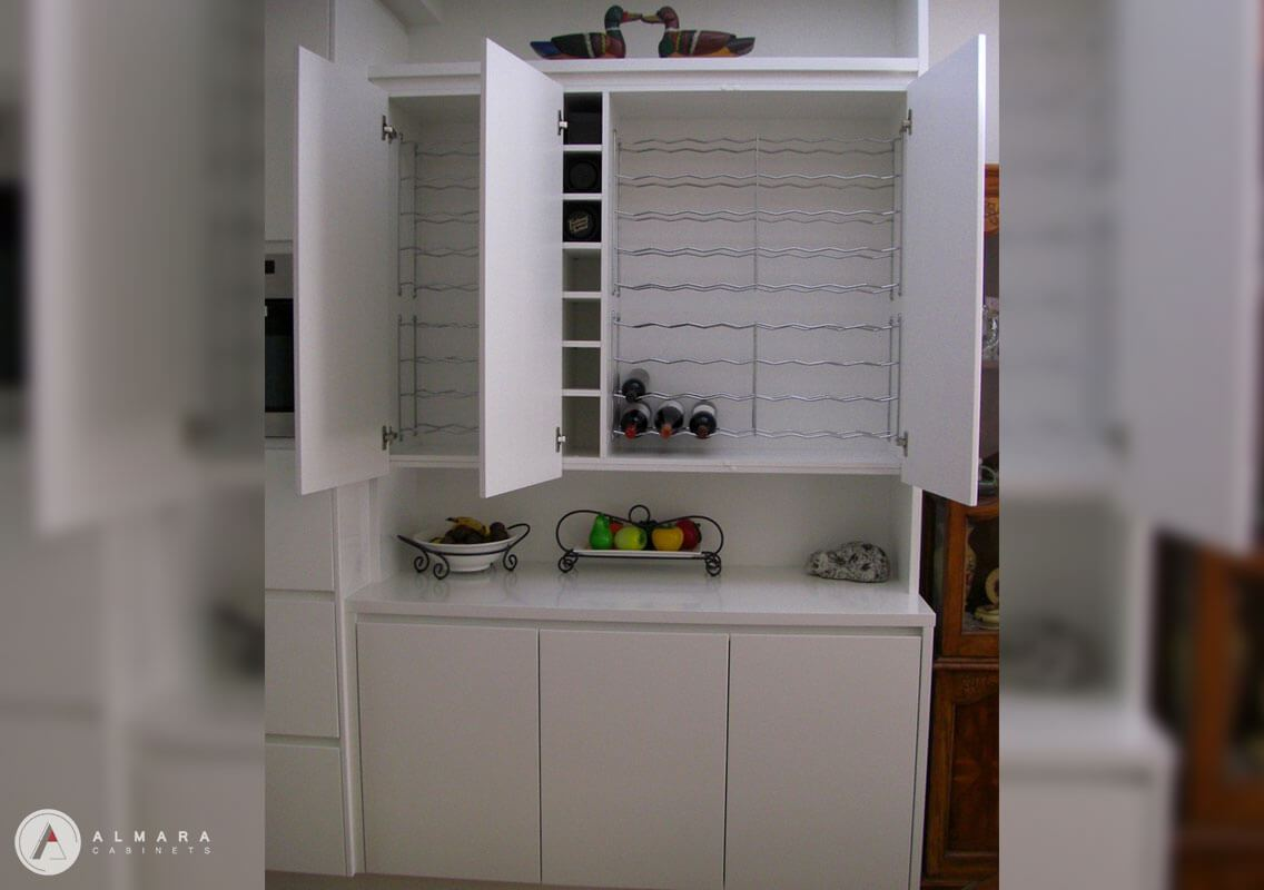 Kitchen dresser - Wine storage internals