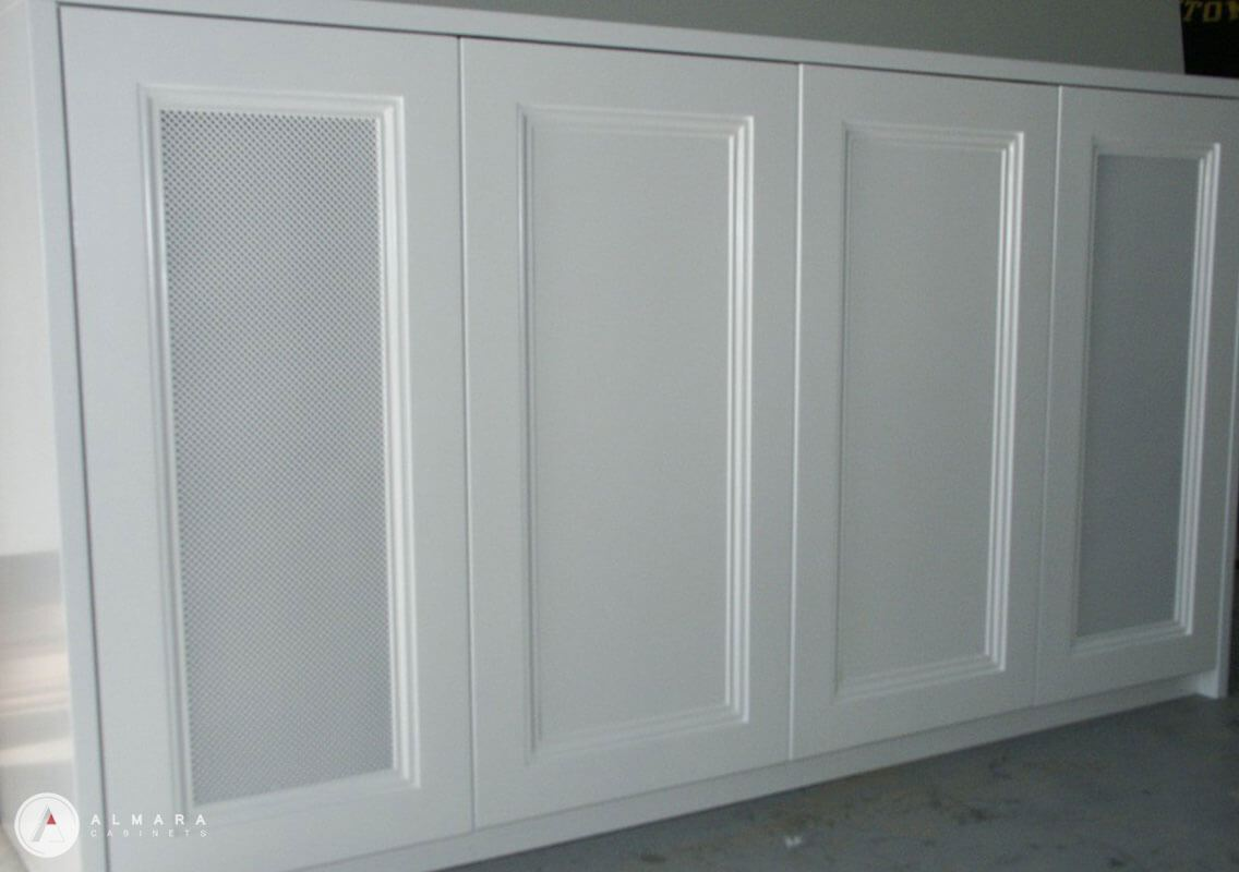 Mesh doors painted finish