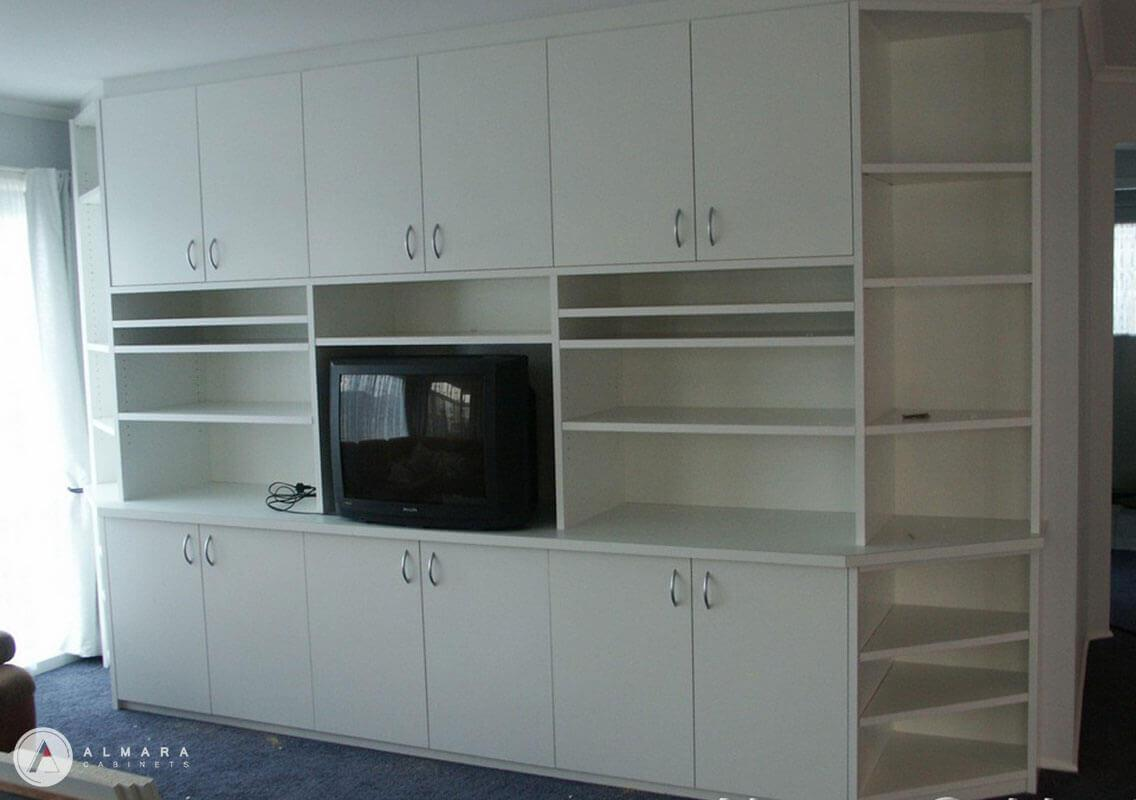Plain white satin melamine finish
